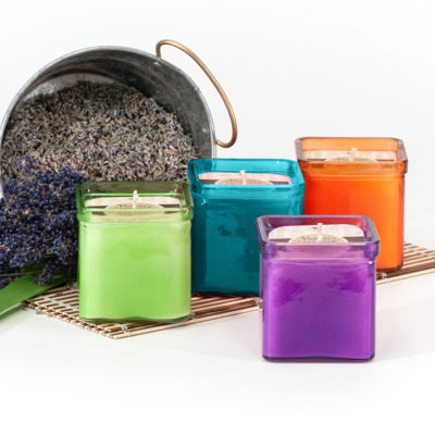 Bug repellent outdoor candles